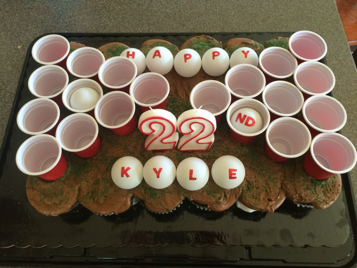 Beer Pong Birthday Cup Cakes So Cute I Bought A Tray Of