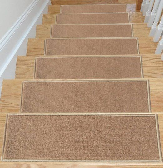 Ottomanson Skid Resistant Rubber Backing Non Slip Carpet Stair Treads Machine  Washable Area