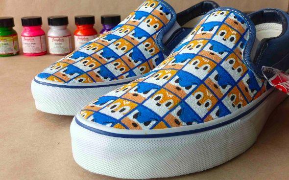 Custom Sonic Tails Vans Slip On Shoes Vans Slip On Shoes Slip On Shoes Vans Slip On