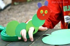 The hungry caterpillar puppet