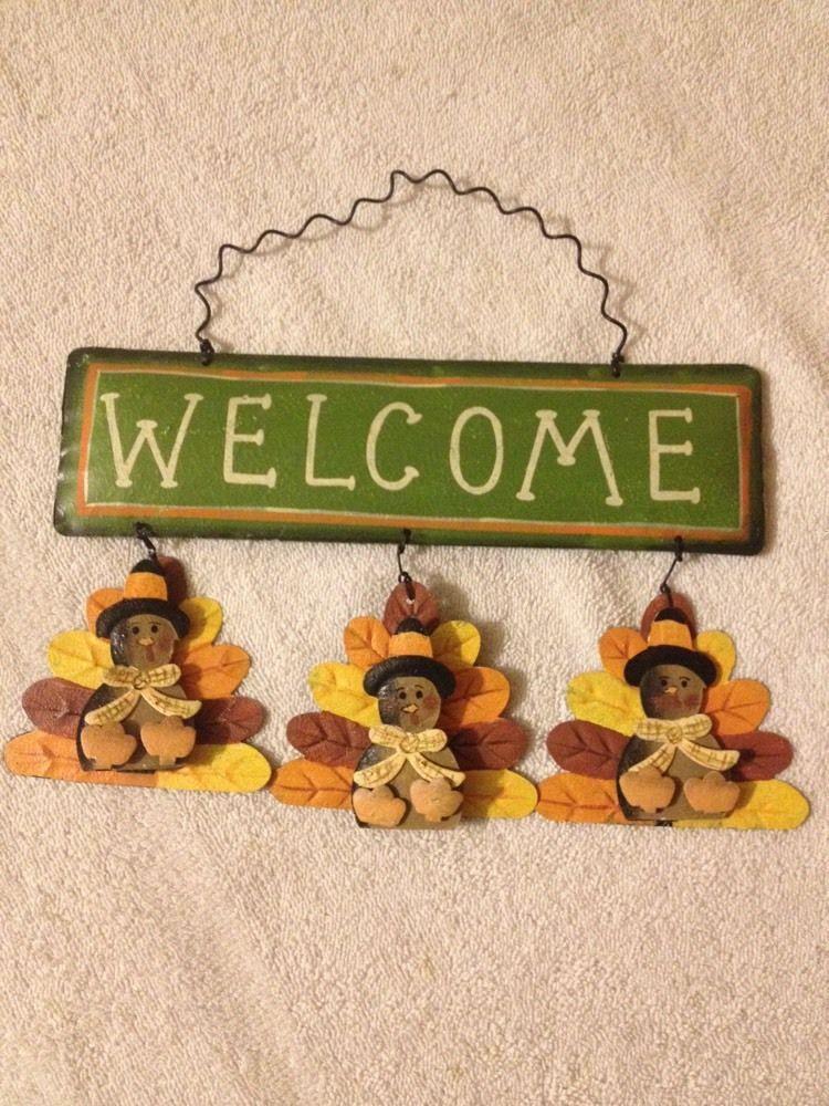 Welcome Sign Turkeys New | eBay