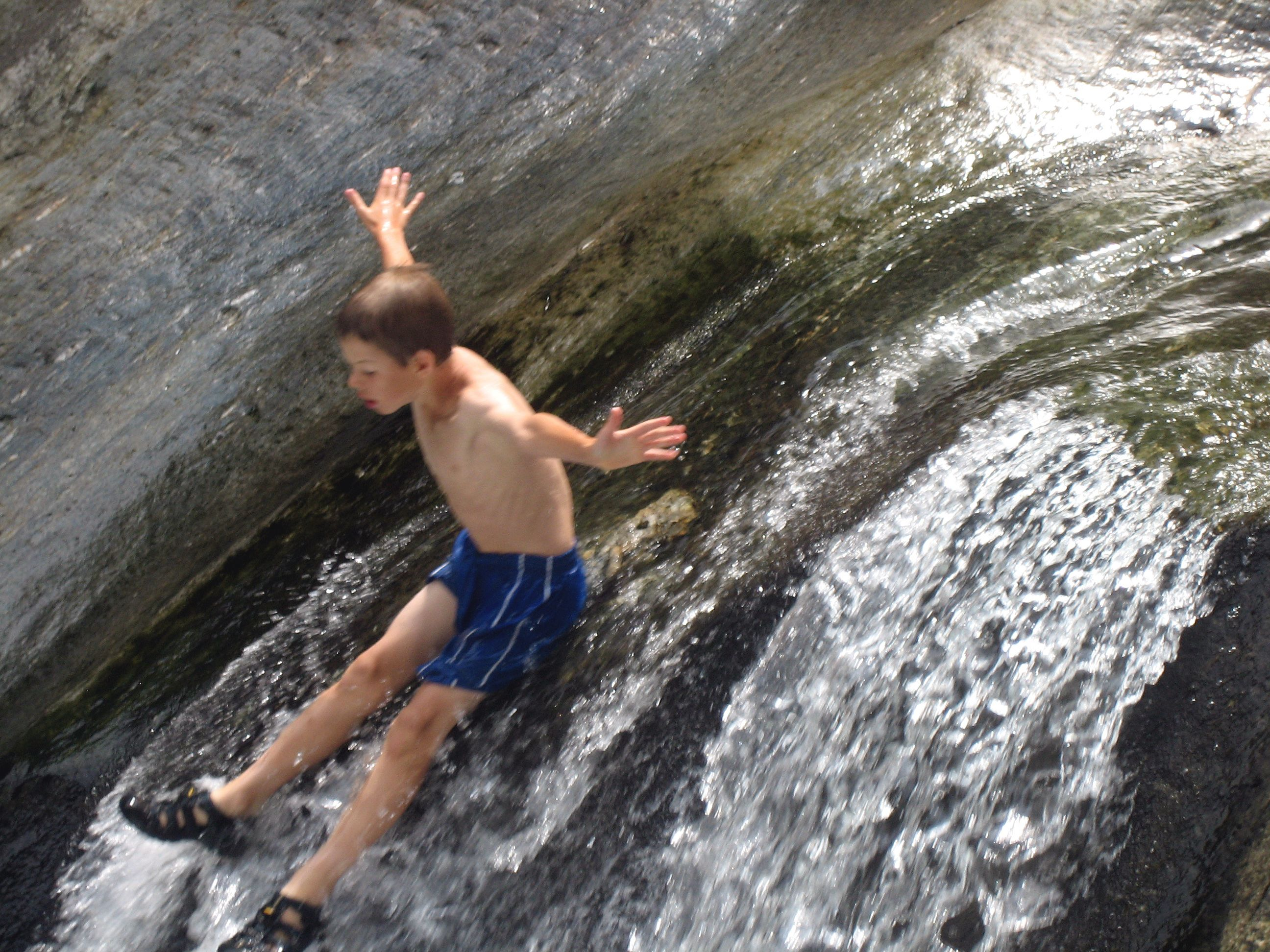 Quot Water Slide Quot Warren Falls Swimming Hole What Makes A