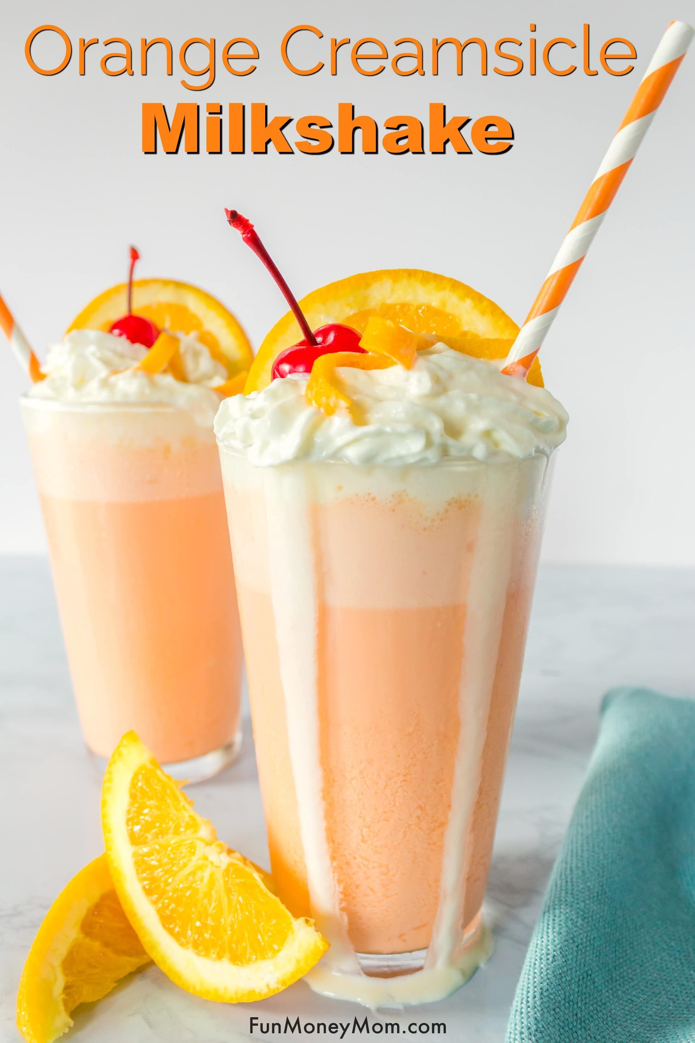 Milk Shake A La Creme Orange In 2020 Creamsicle Milkshake Milkshake Recipe Easy Creamsicle Drink