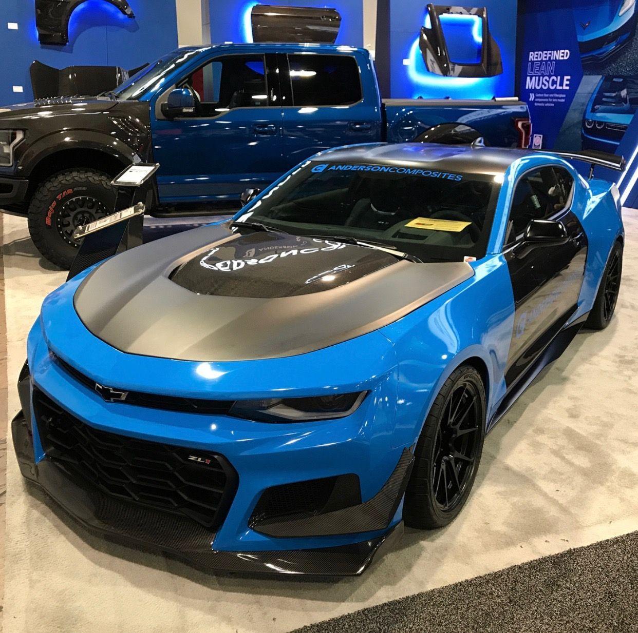 Chevrolet Camaro Zl1 1le Wrapped In Light Blue Black Photo Taken