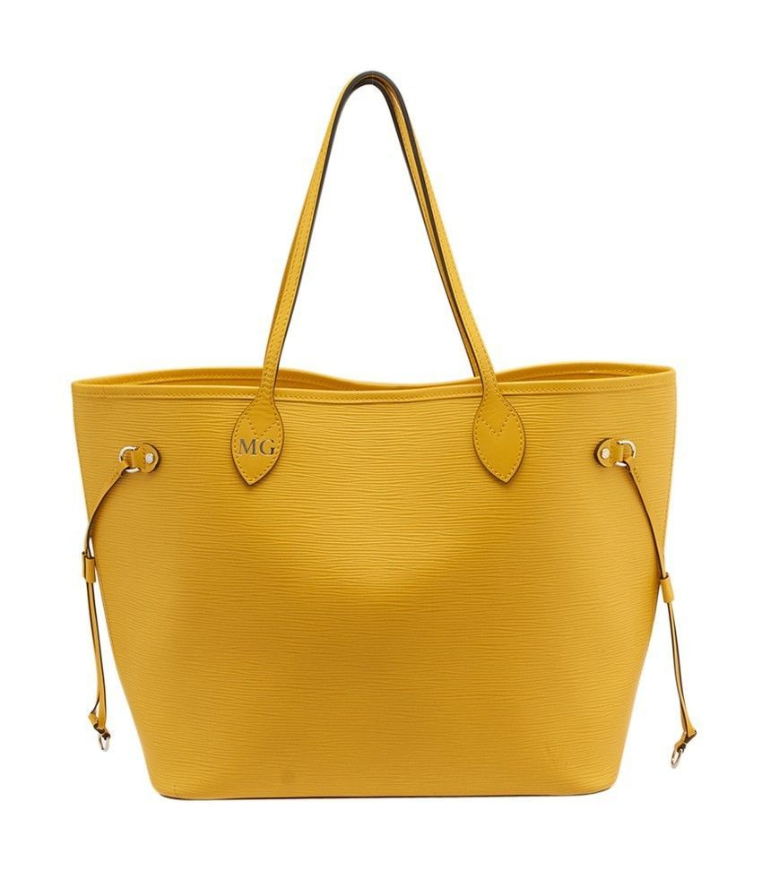 Louis Vuitton Neverfull MM Yellow Epi Leather Tote
