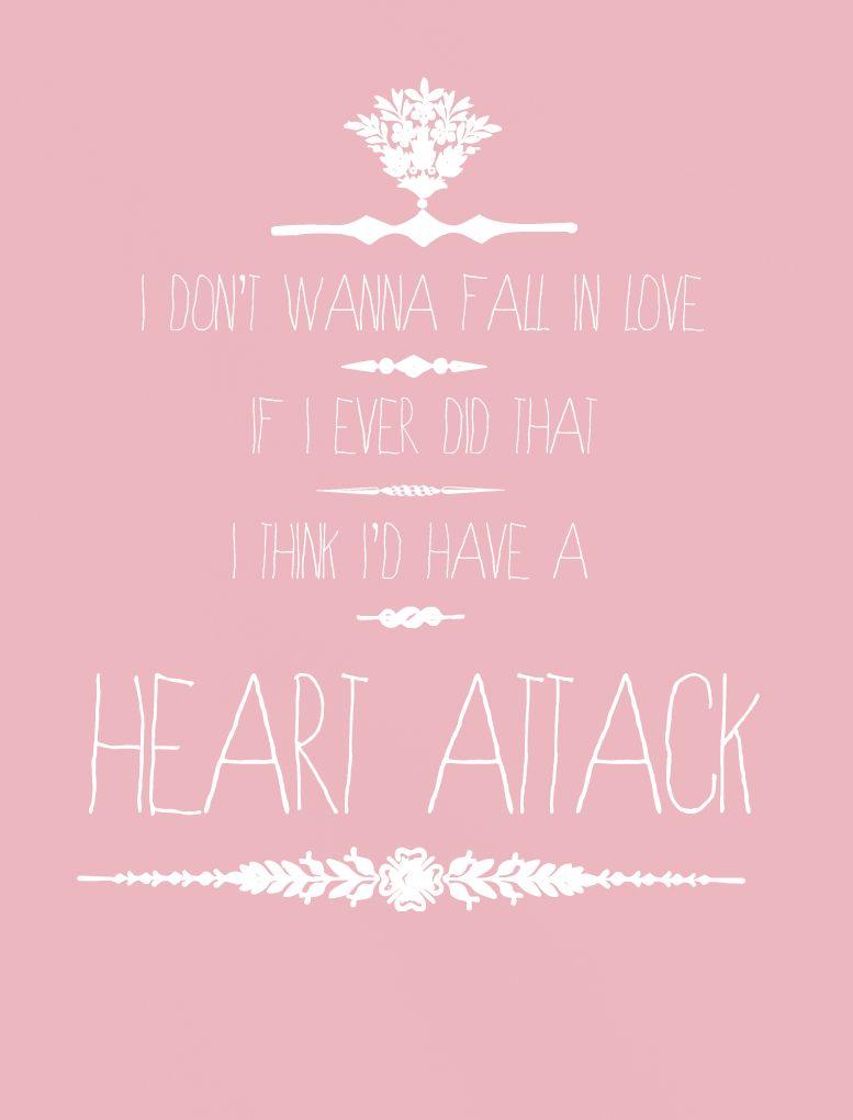 Heart Attack Lyrics Tumblr Demi Lovato Lyrics Music Quotes Lyrics Music Quotes