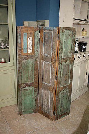 muebles biombo fabricado con maderas antiguas n 14