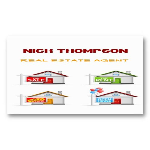 Real Estate Agent Business Card Template Real Estate Business - Buy business card template
