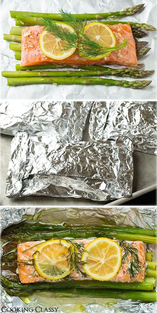 This is one of the easiest dinners ever it tastes amazing its it tastes amazing its perfectly healthy and clean up is a breeze notes salmon tastes great foil makes asparagus very soggy pan roast instead ccuart Image collections