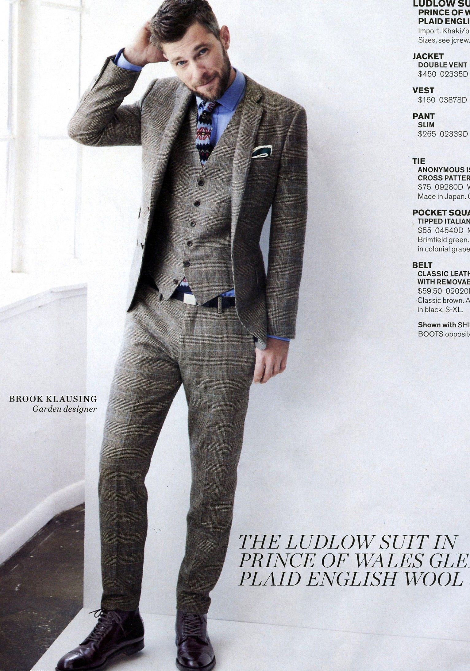 Brook Klausing I Love His Complete Look The Three Piece Suit