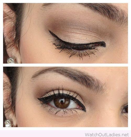 Lovely satin eye makeup for brown eyes   Daytime makeup