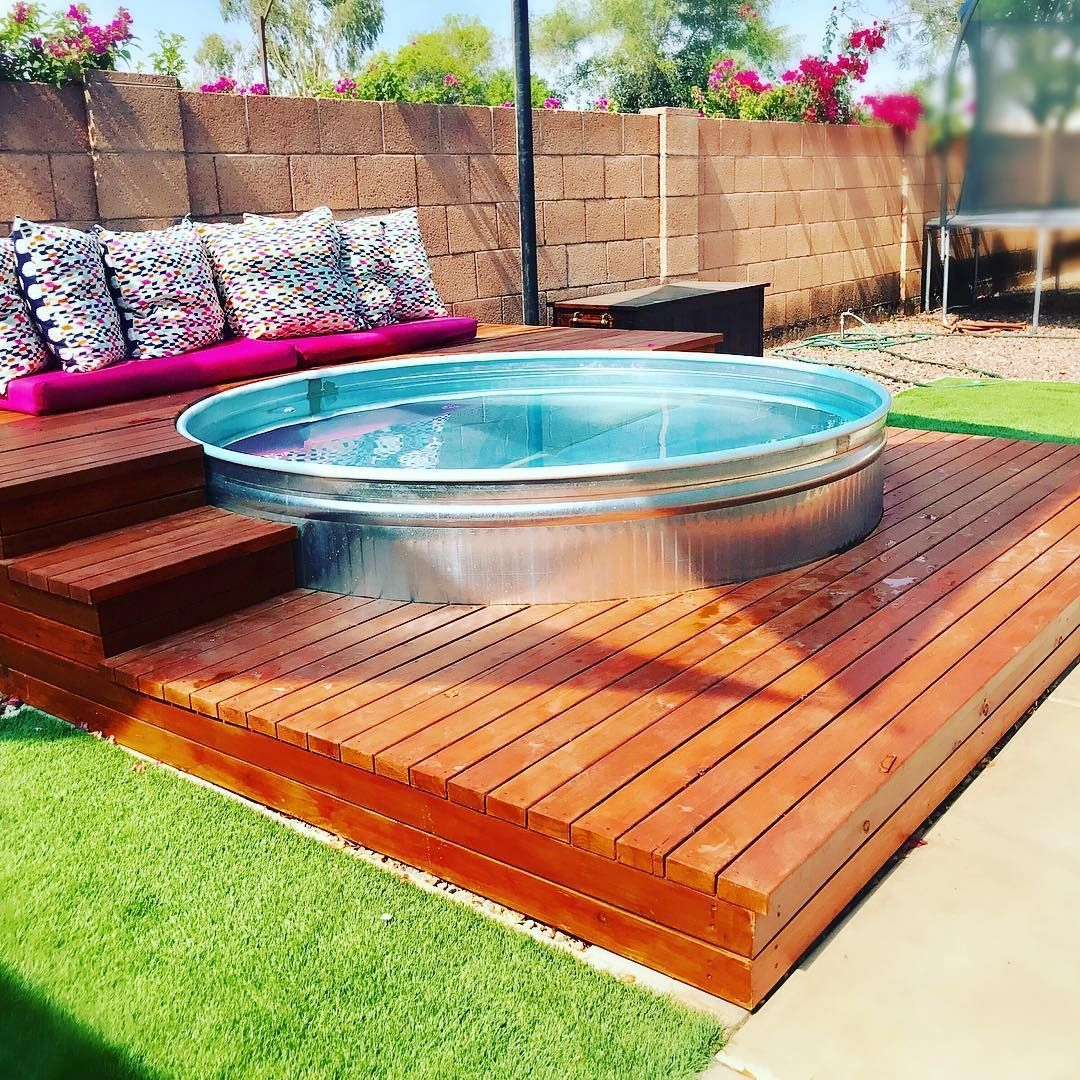 Stock Tank Pools Are The New Stylish Adult Kiddie Pool Hgtv S