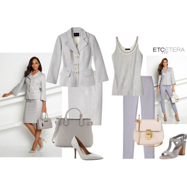 Etcetera   Summer 2016: DIVINE summer skirt suit with MASON pants and FRINGE sweater. www.etcetera.com.