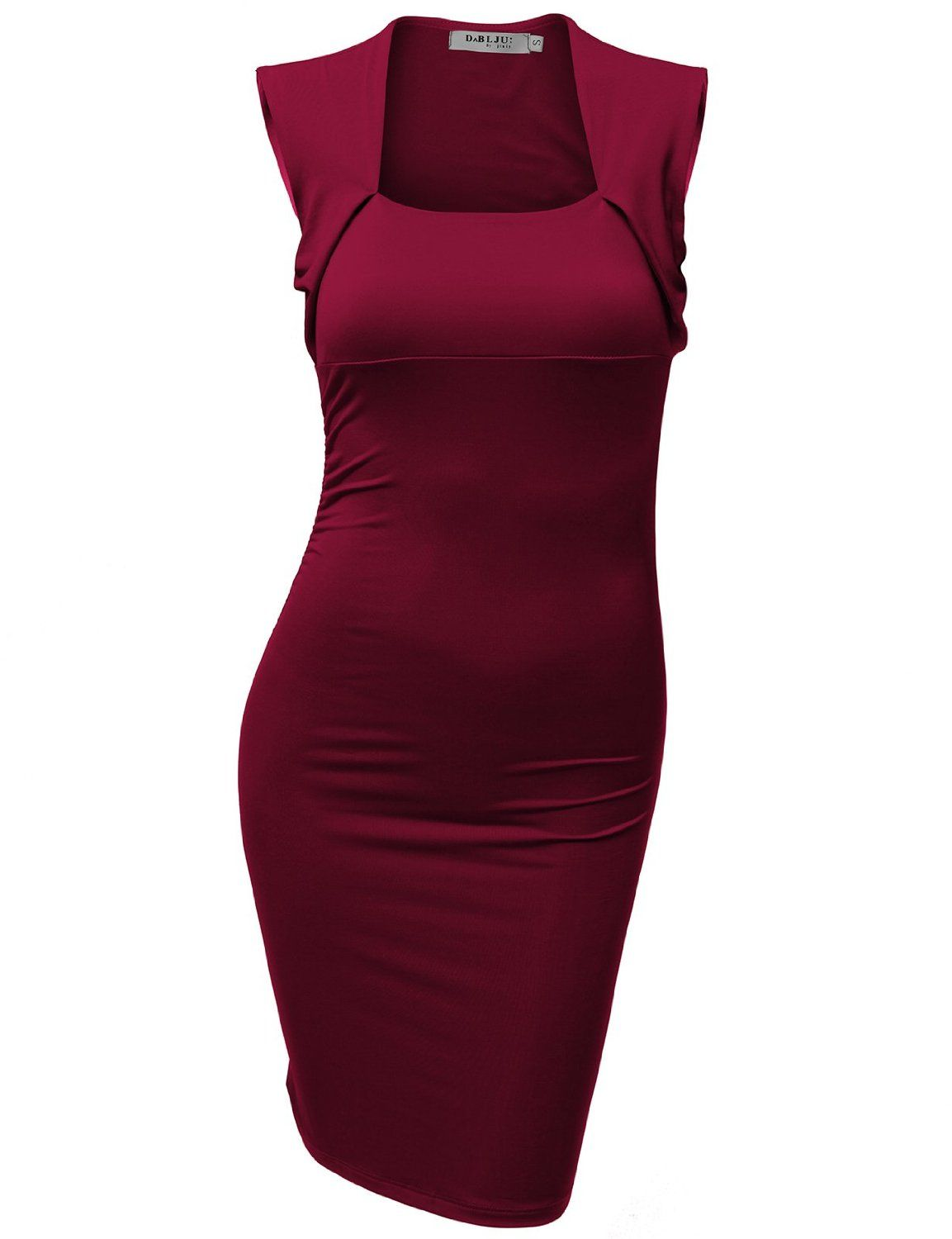 Doublju Fitted Dress with Square Neck Line EUR 14,79