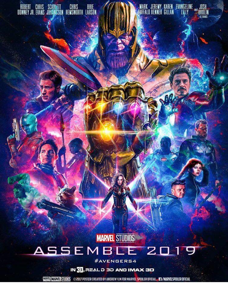 Fanmade poster for Avengers 4. Marvel superheroes