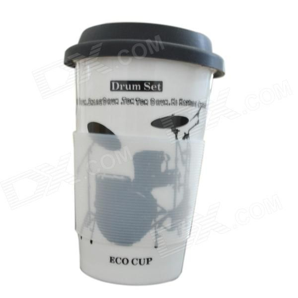 Color: White + Black; Brand: DEDO; Model: MG-397; Material: Ceramic; Quantity: 1 Piece; Capacity: 400ml; Diameter: 12.5 cm; Height: 9 cm; Packing List: 1 x Cup1 x Cup lid1 x Drinking straw1 x Heat-proof mat; http://j.mp/1v3dps7