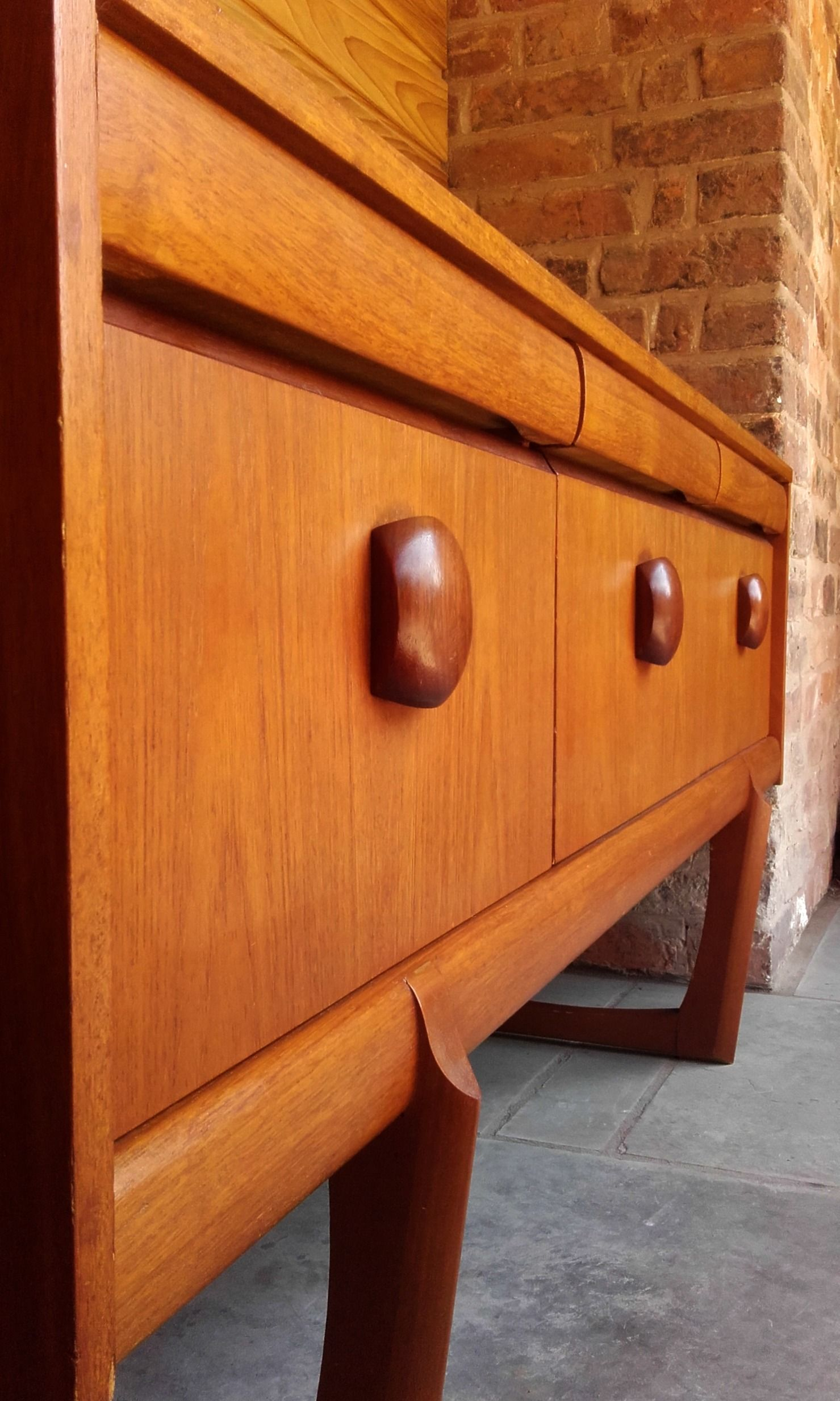 This Is A Superb Sideboard With Strong, Clean Lines, Punctuated