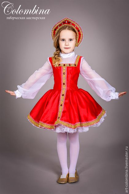 177520416c2 Детские карнавальные костюмы ручной работы. Ярмарка Мастеров - ручная работа.  Купить Костюм русской красавицы