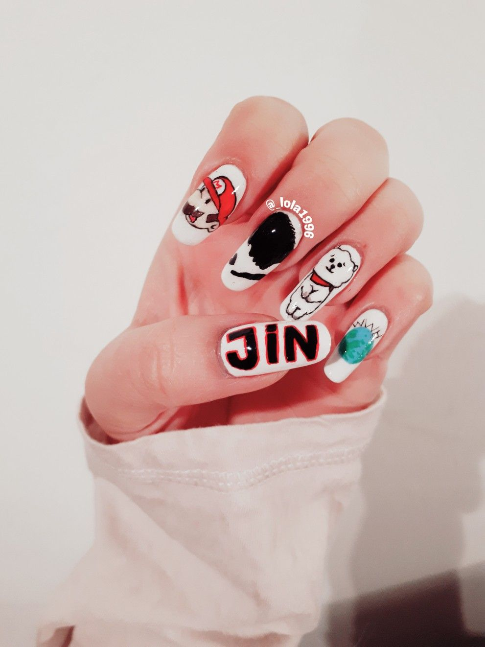 Bts nail art Happy 25th birthday Jin | Bts em 2019 | Nails ...
