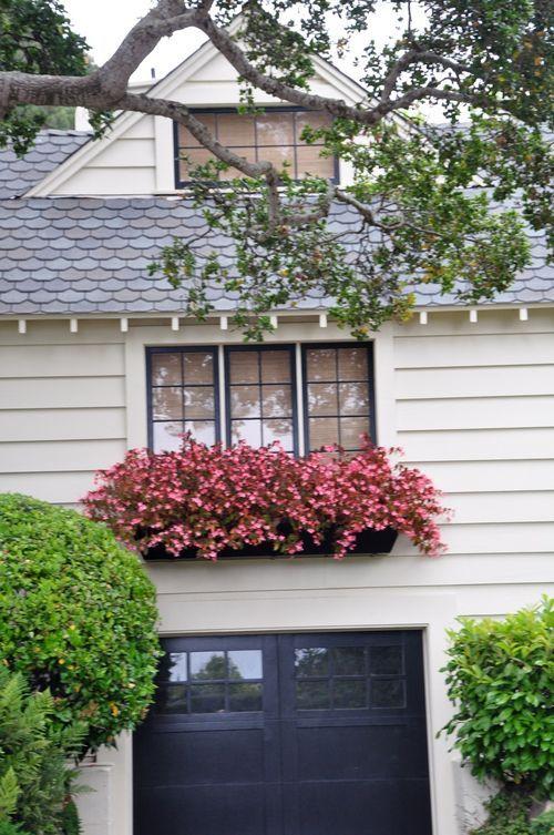 Window Box Black Garage Door And Window Trim Decks