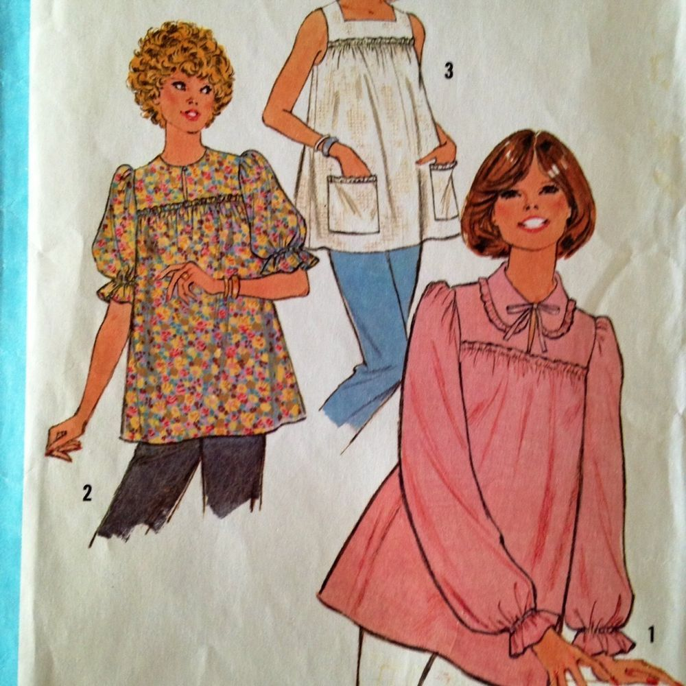 Size 10 1970\'s Maternity Smock Top Pattern | Sew It Up! | Pinterest