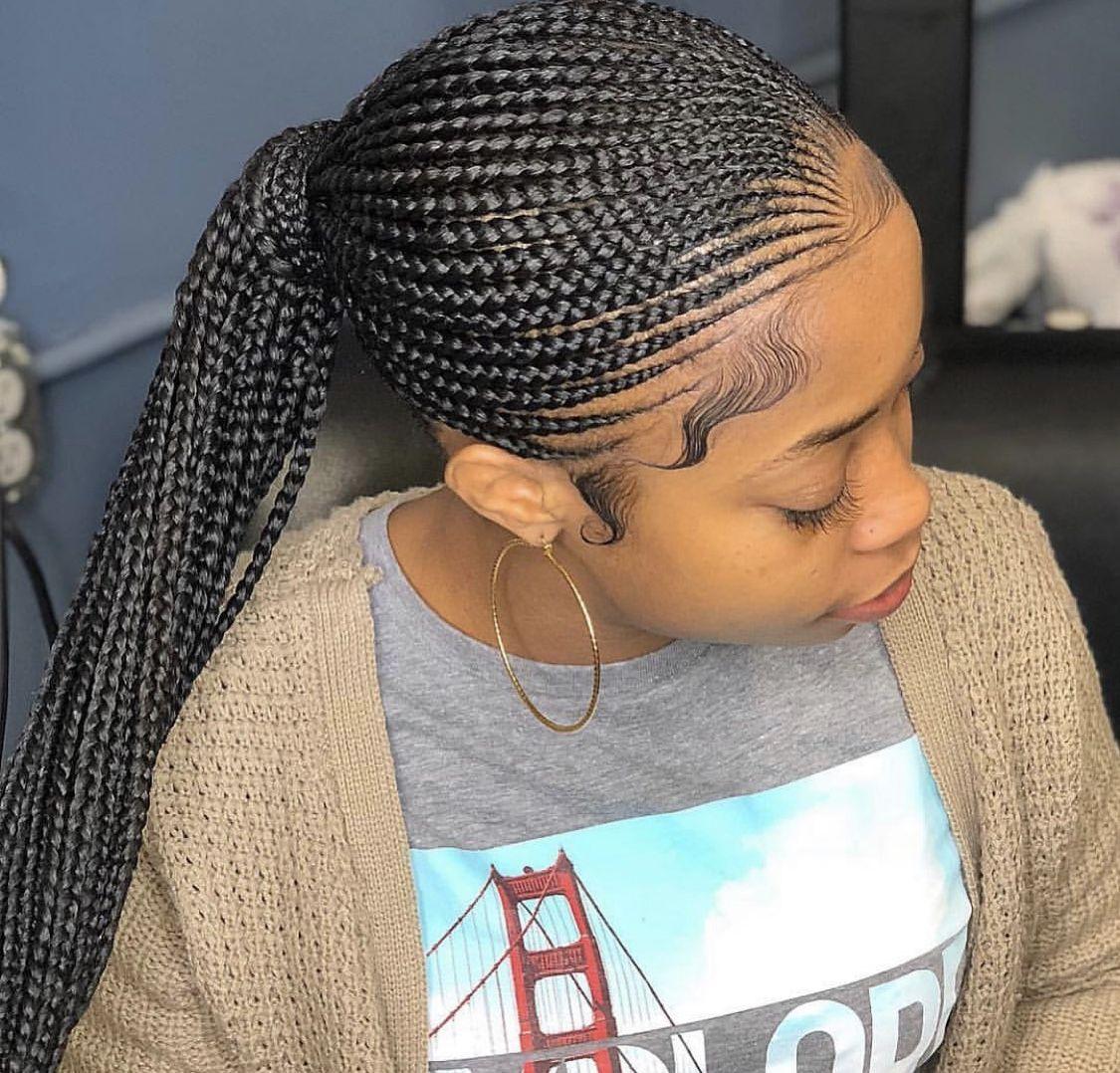 Seamless Ponytail African Braids Hairstyles Cool Braid Hairstyles Black Girl Braids