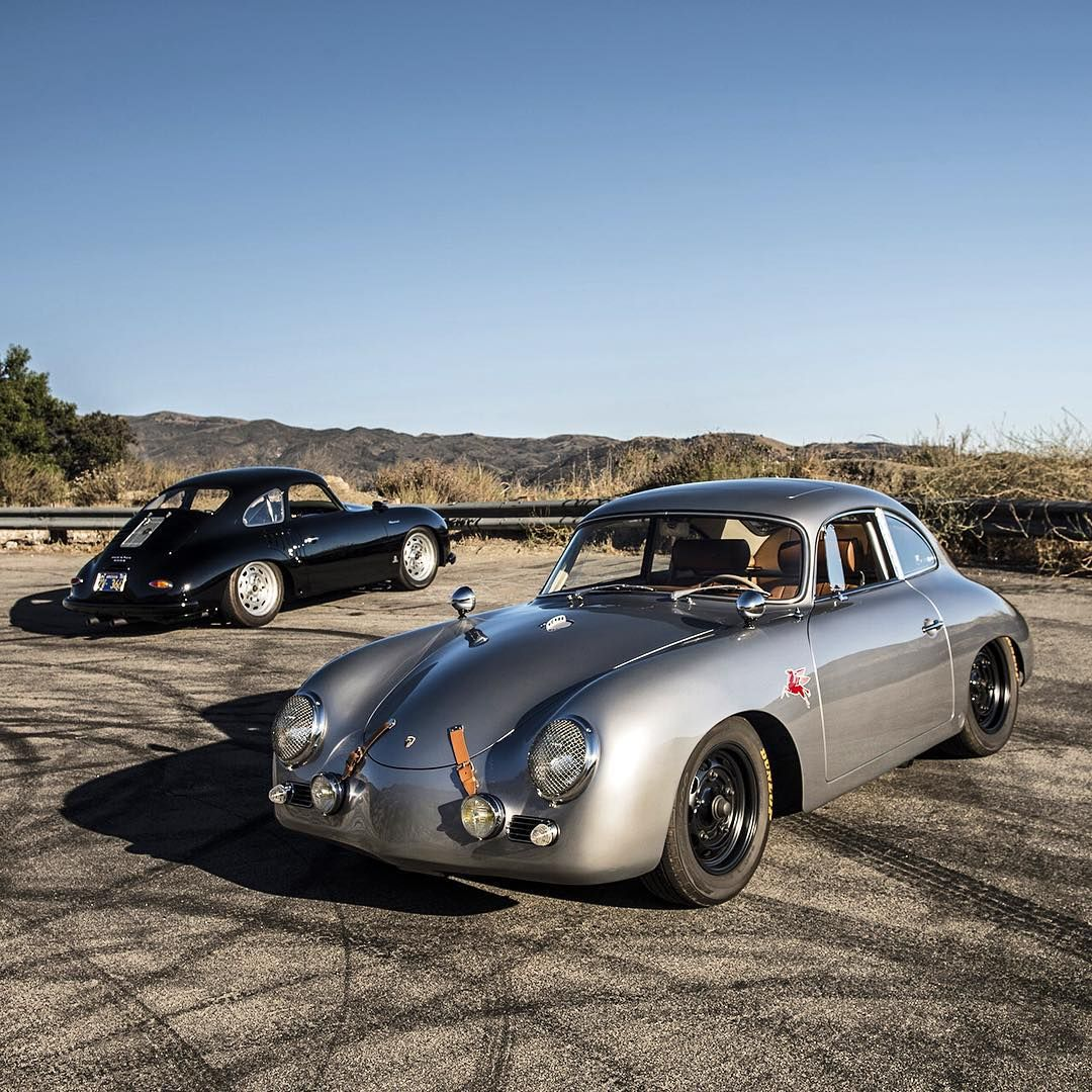 """Silver Porsche 356: """"Emory Motorsports 356 Outlaw (silver) And 356 Special"""