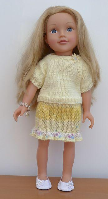 Ravelry Free American Girl Doll Plain White T Shirt Pattern By
