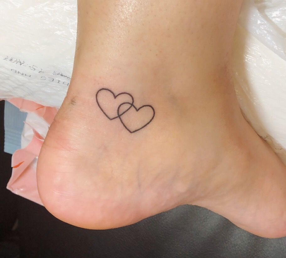 Best Friend Tattoo Tattoos For Daughters Two Hearts Tattoo Heart Tattoo Ankle