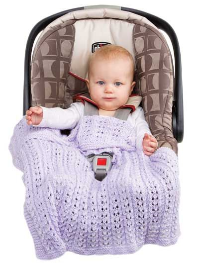 Annies Infant Knitted Car Seat Blanket Knitting And Some