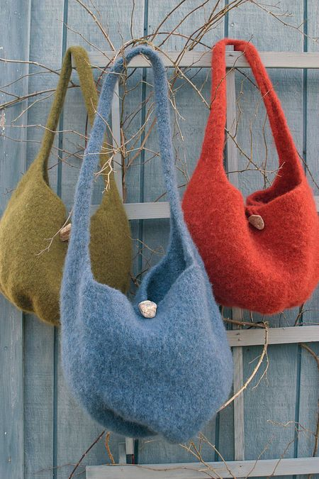 Felted Knitting Satchel Knitting Pattern Free With Yarn Purchase