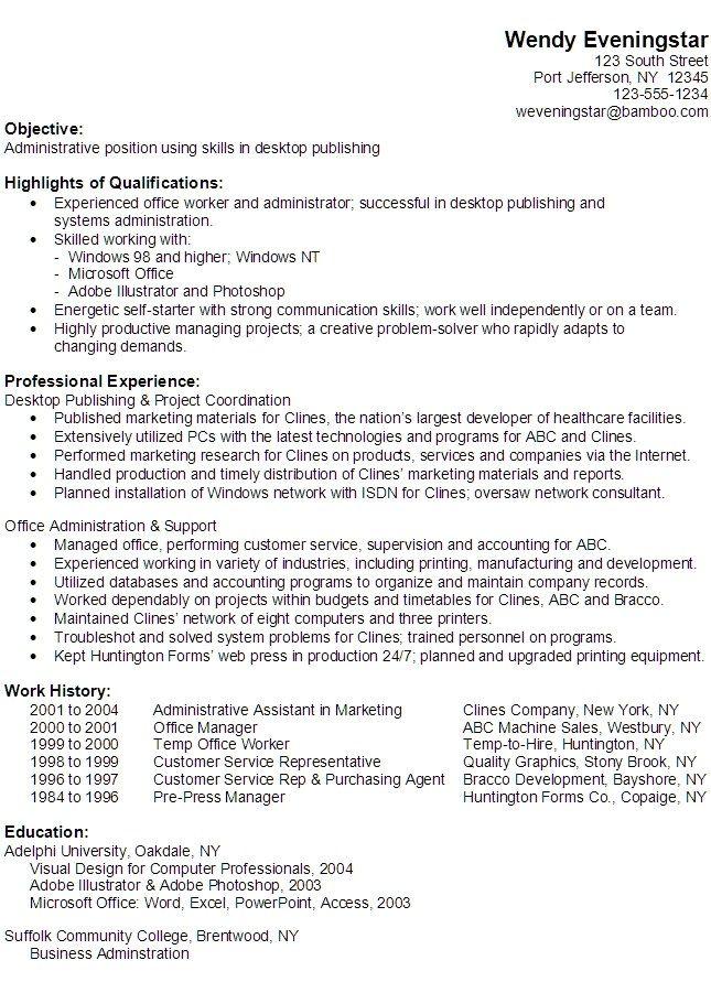 Functional Resume Format 2020