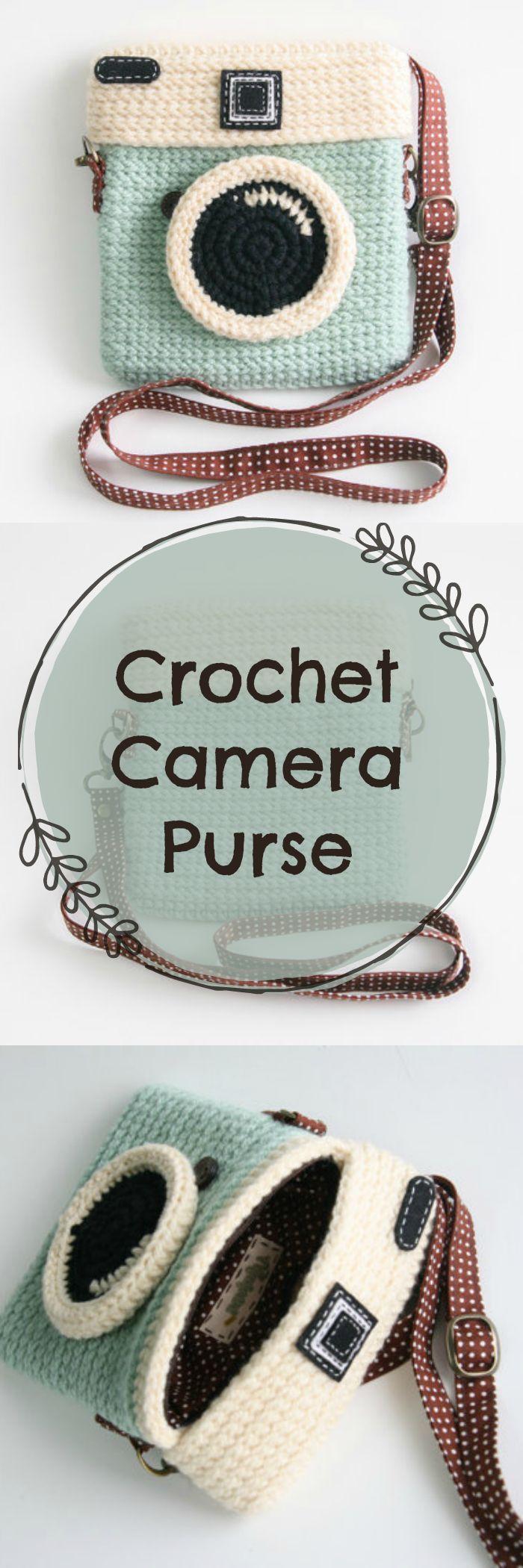 c1477fffeca7 Therese Pilger | 包 | Crochet, Crochet camera, Crochet gifts