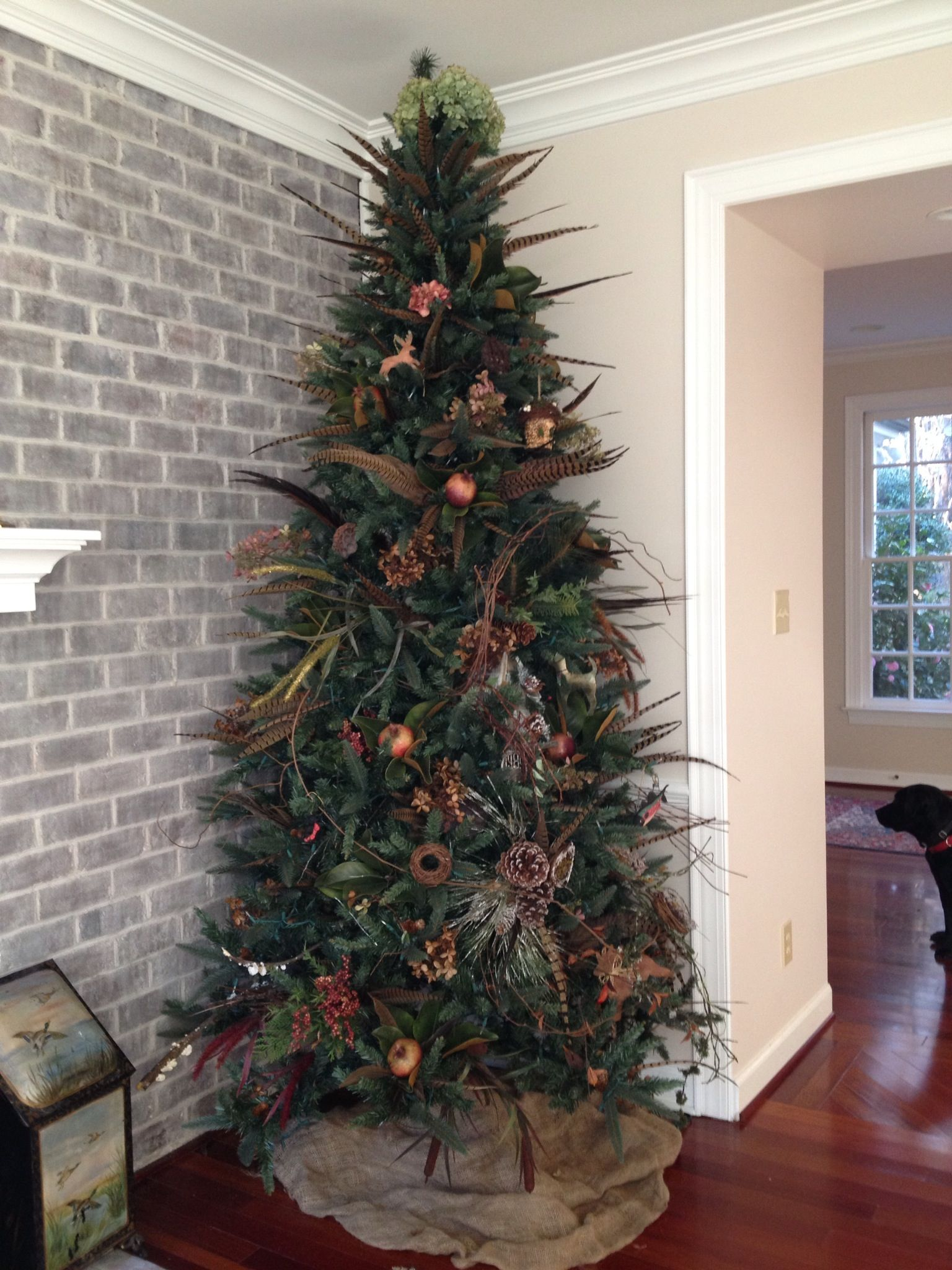 Decorate Your Christmas Tree With Pheasant Feathers From Your Recent South Dakota H Hunting Christmas Decorations Christmas Tree Feathers Christmas Tree Themes