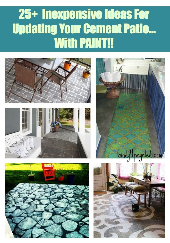 Superieur 25+ Inexpensive Ideas For Updating Your Cement Patio, With Paint! By  GiddyUpcycled.com