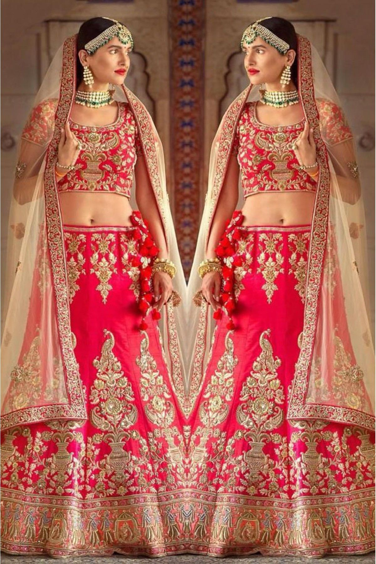 0df7b06d09 Red Colour Ruby Silk Fabric Party Wear Lehenga Choli Comes With Matching  Blouse. This Lehenga Choli Is Crafted With Embroidery. This Lehenga Choli  Comes ...