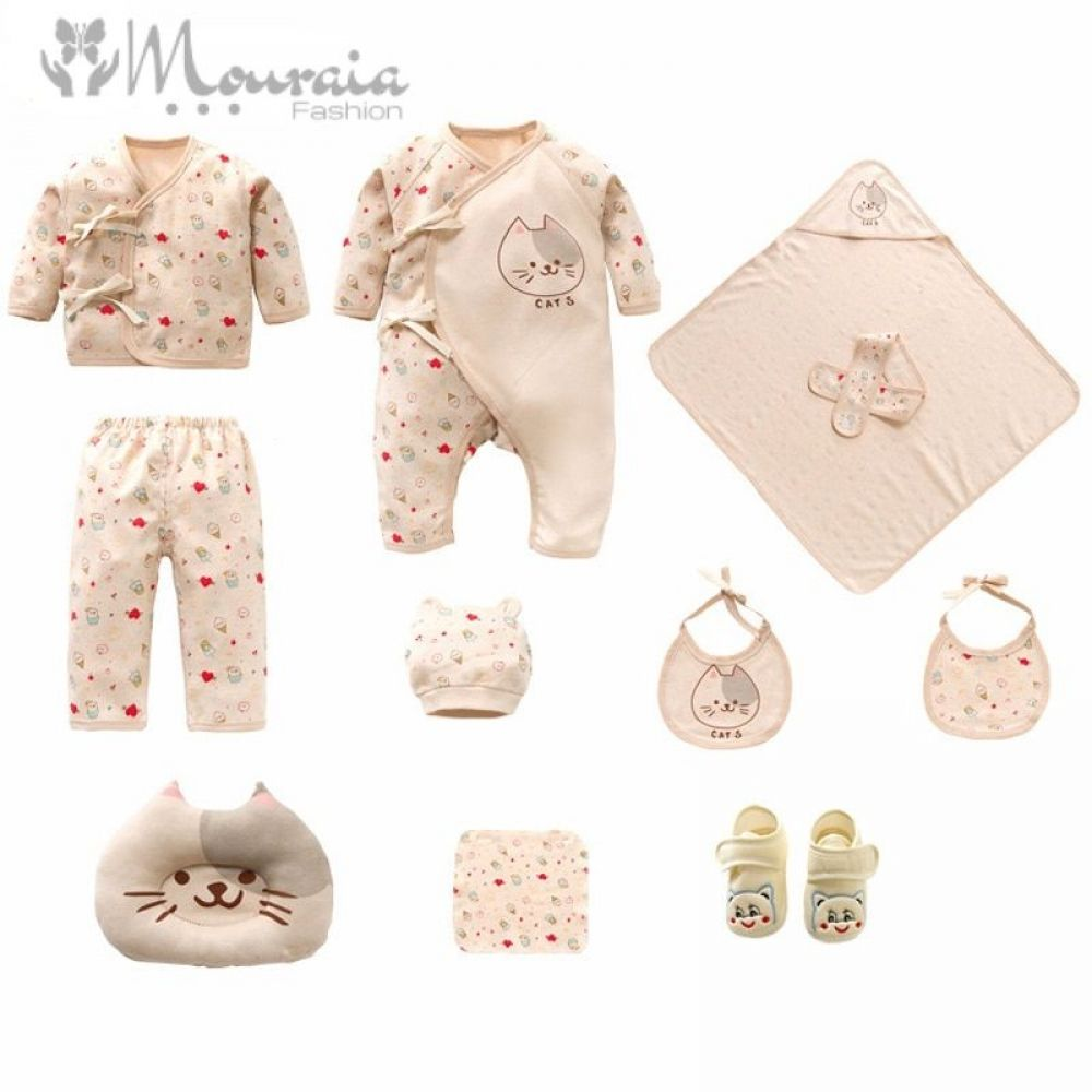 Cotton Clothing Set for Newborns  Newborn outfits, Kids fashion
