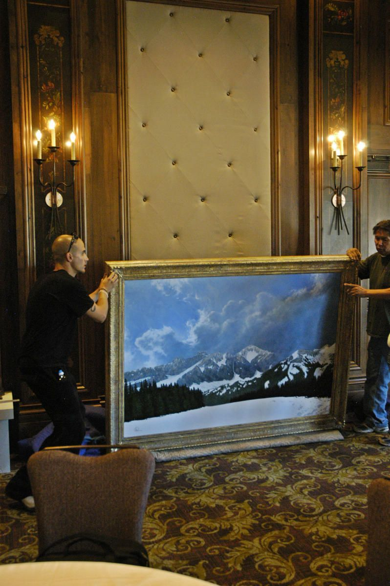Western Interior Services\' Movers prepare to lift the frame into ...