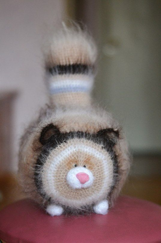 How adorable- kitty | knit | Pinterest | Tejido, Gato y Juguetes