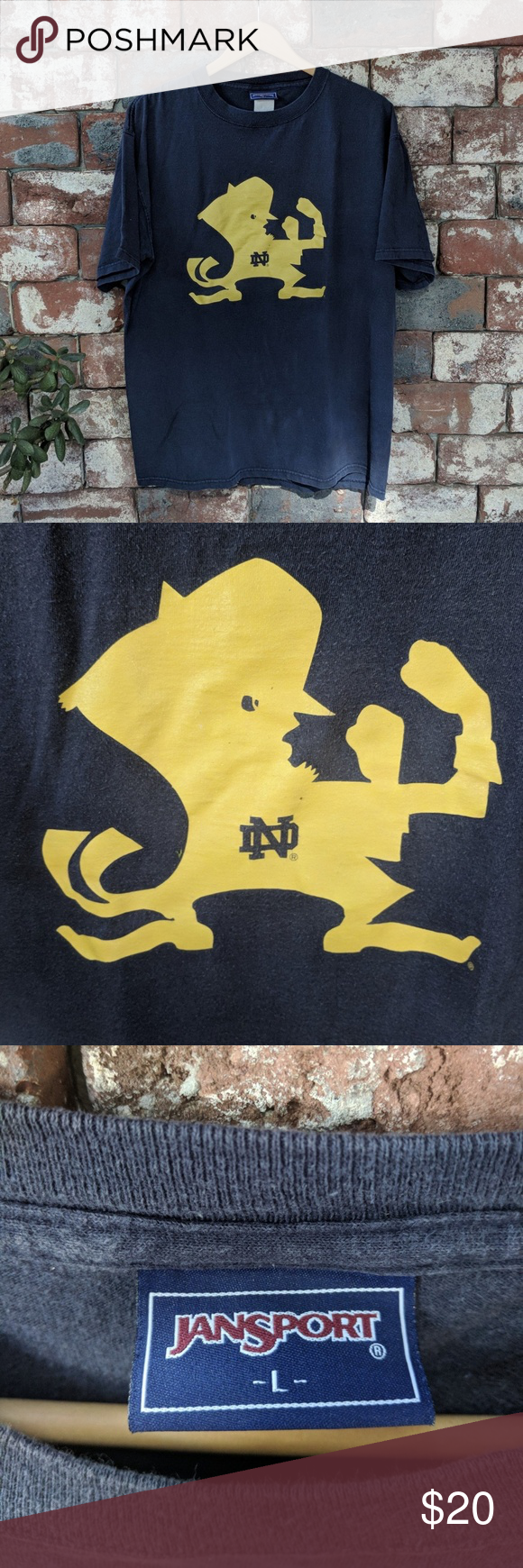 Vintage Notre Dame Fighting Irish tshirt Vintage Notre