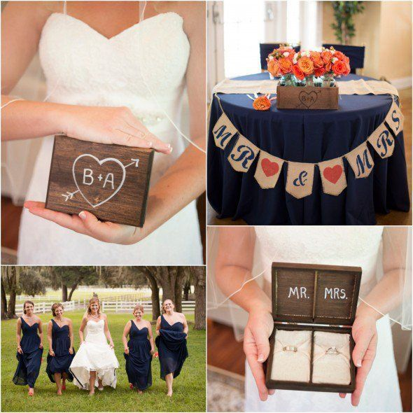 Navy Blue Wedding Color Inspiration Rustic Chic