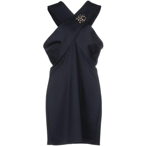 Jolie Carlo Pignatelli Short Dress ($126) ❤ liked on Polyvore featuring dresses, dark blue, stretch jersey dress, mini dress, short dresses, jersey dresses and dark blue dress