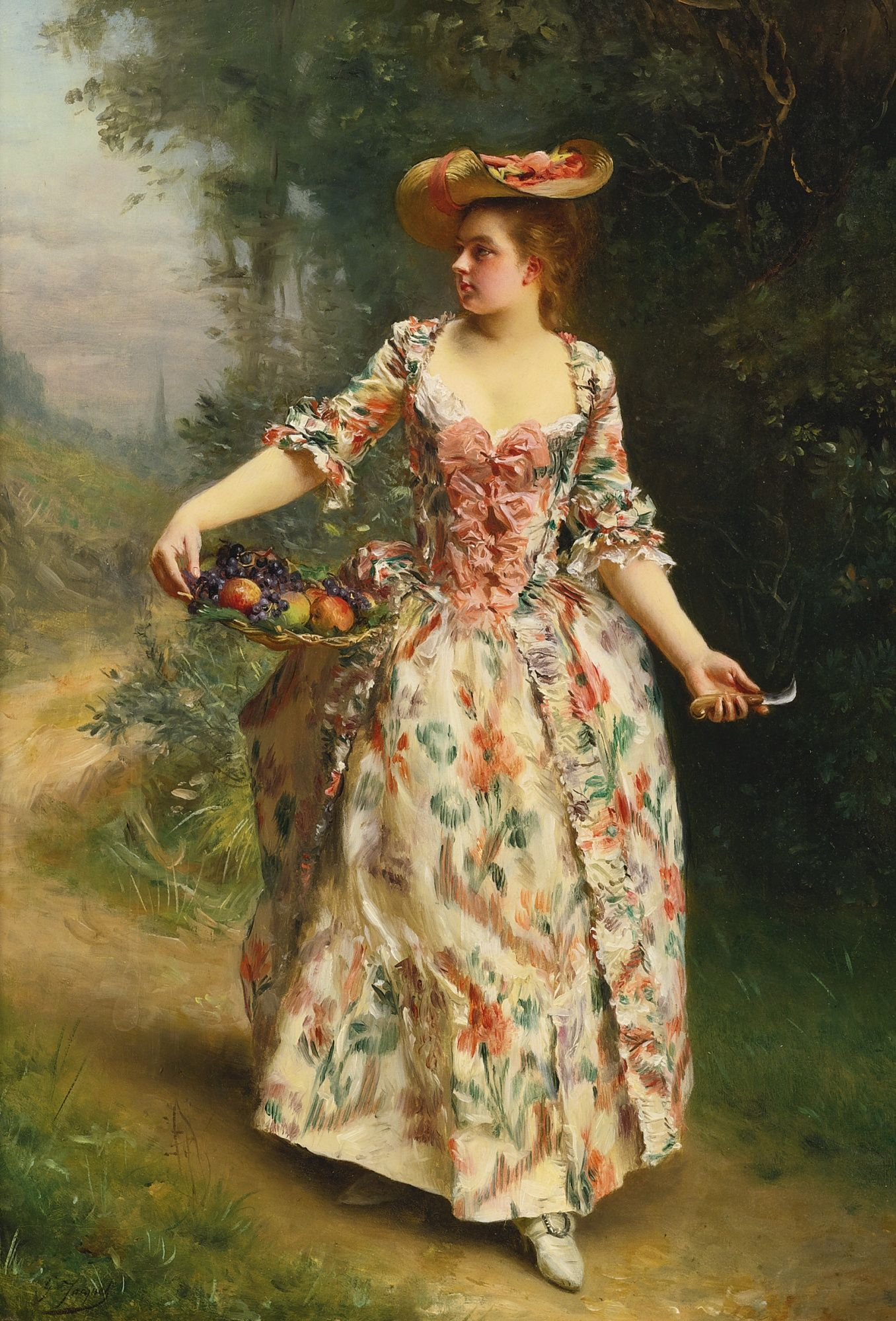 jacquet gustave jean a walk in the p | figure | sotheby\'s ...