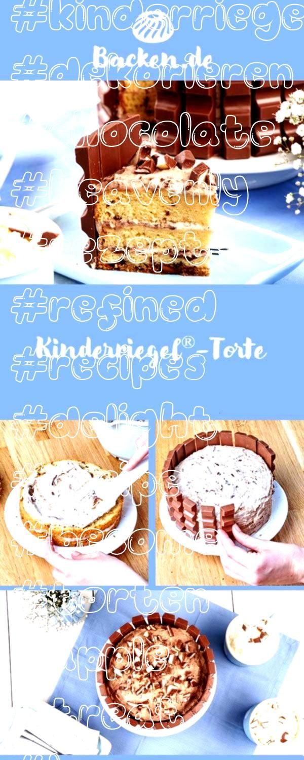 this refined recipe Kinderriegel become a cake a heavenly chocolate treat that will delight young and old pies pies recipes dekorieren rezepteWith this refined recipe Kin...