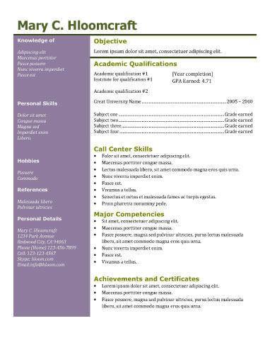 colour contrast resume template resume templates pinterest