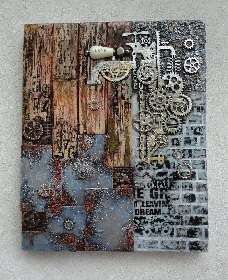 Pin von brunhilde leber auf mixed media lablanche malen - Collage auf leinwand basteln ...