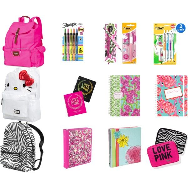 Cute School Supplies By You Go Glenncoco On Polyvore Middle