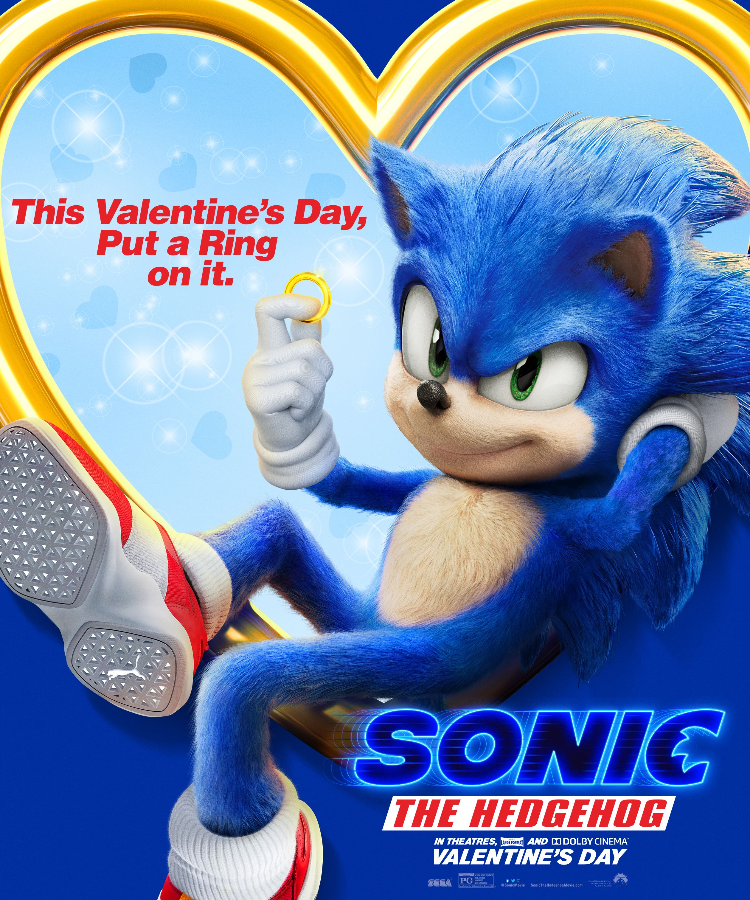 Sonic The Hedgehog In Theatres Feb 14 In 2020 Sonic The Hedgehog Sonic Hedgehog