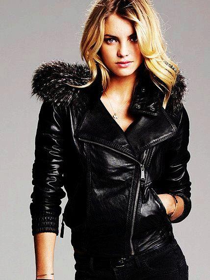 Fur Hooded Women Leather Bomber Jacket - Fur Hooded Women Leather Bomber  Jacket 42694da91c