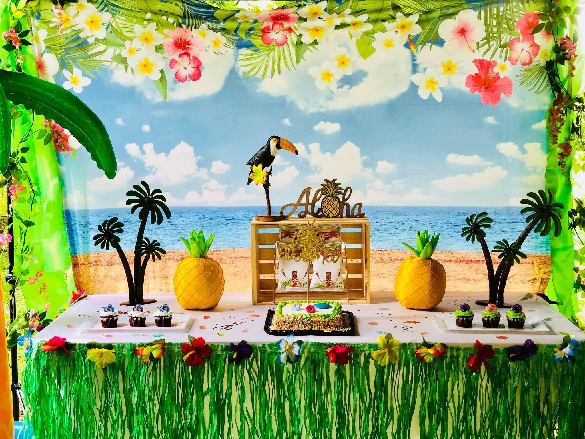 allenjoy 7x5ft moana themed backdrop photography backdrops tropical